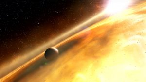 artist's impression of the exoplanet, Fomalhaut b