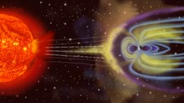 artist's rendition of Earth's magnetosphere