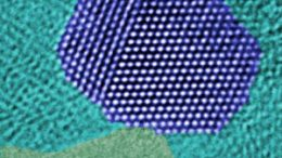 atoms on the surface of an industrial catalyst used in methanol production