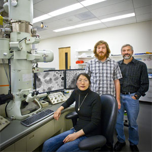 attachment of nanoparticles that gives rise to the formation of nanocrystals