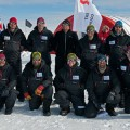 The Lake Ellsworth team earlier this month, in happier times. Credit: Courtesy of the British Antarctic Survey