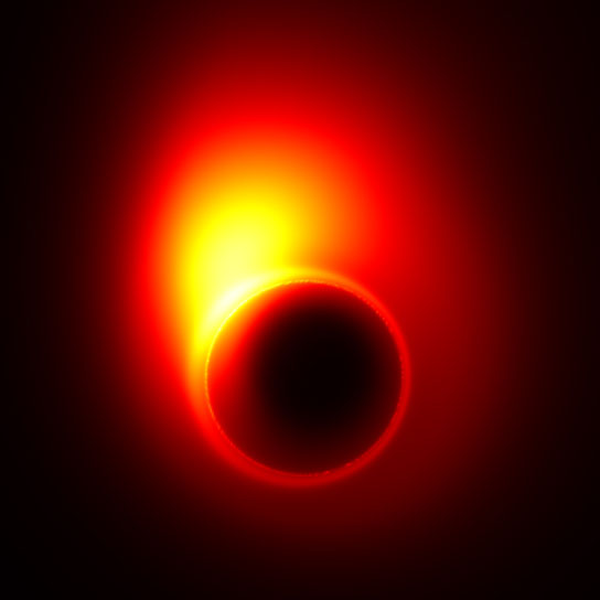 black hole in M87 distorts the appearance of the jet near the event horizon