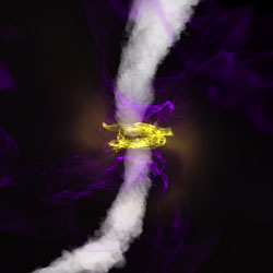 black hole produces a powerful jet