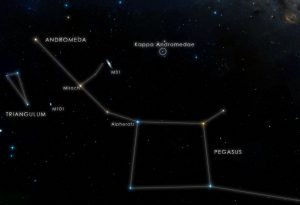 chart locates the star Kappa Andromedae