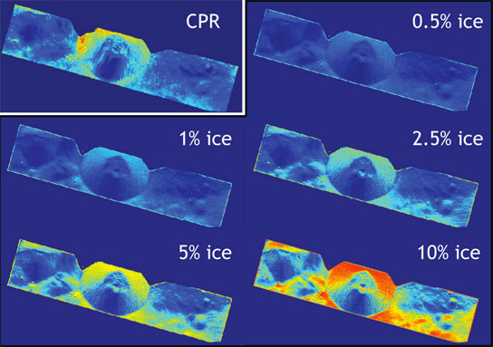 data indicate that the walls of Shackleton crater may hold ice