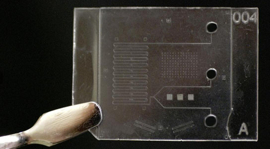 designing processes for manufacturing microfluidic chips