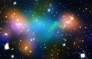 distribution of dark matter, galaxies, and hot gas in the core of the merging galaxy cluster Abell 520