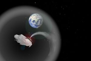 dust cloud made of asteroid material could help to cool Earth