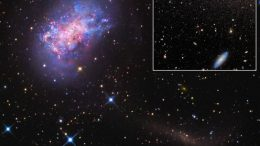 dwarf galaxy in the process of swallowing another