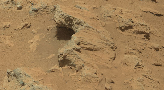 evidence of an ancient flowing stream on Mars