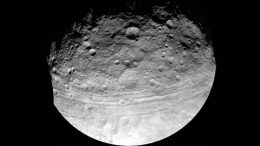 extensive system of troughs encircles Vesta's equatorial region