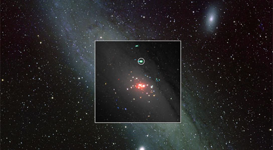 first detection of radio-emitting jets from a stellar-mass black hole outside our own galaxy