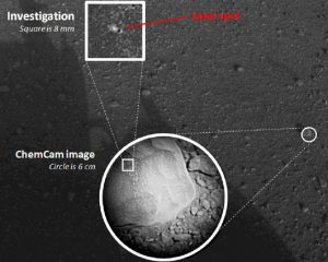 first laser test by the ChemCam instrument on Curiosity