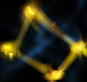 four particles of light can be produced and manipulated
