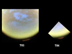 hood of clouds and haze over Titan's north pole
