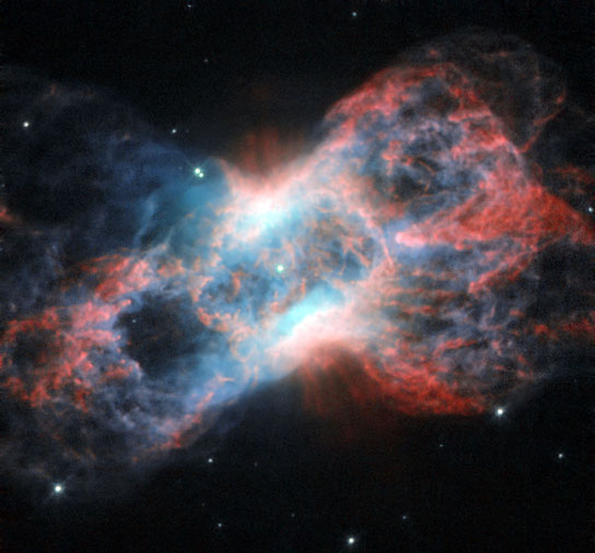 New image from the hubble space telescope shows the butterfly shaped