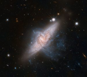 image of a pair of overlapping galaxies called NGC 3314