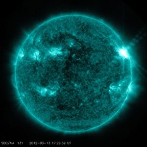 image of an M7.9 class flare on March 13, 2012