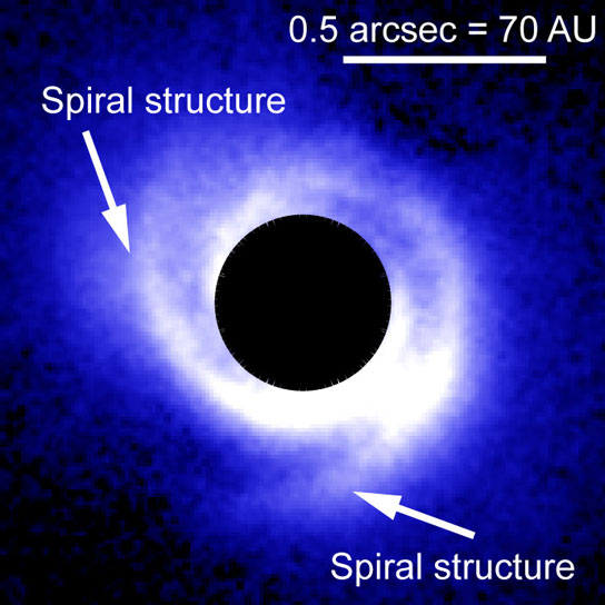 image of the disk around SAO 206462
