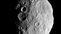 images NASA's Dawn spacecraft obtained of the giant asteroid Vesta