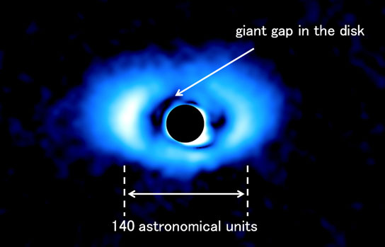 infrared image of the protoplanetary disk around PDS 70