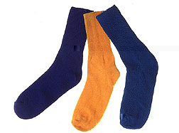 Inhibit microbial growth in cotton socks, t-shirts and other clothes