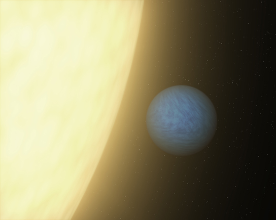 light from a super-Earth spotted