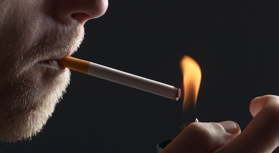 Smoking may cause chemical modifications of DNA