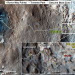map traces where NASA's Mars rover Curiosity drove