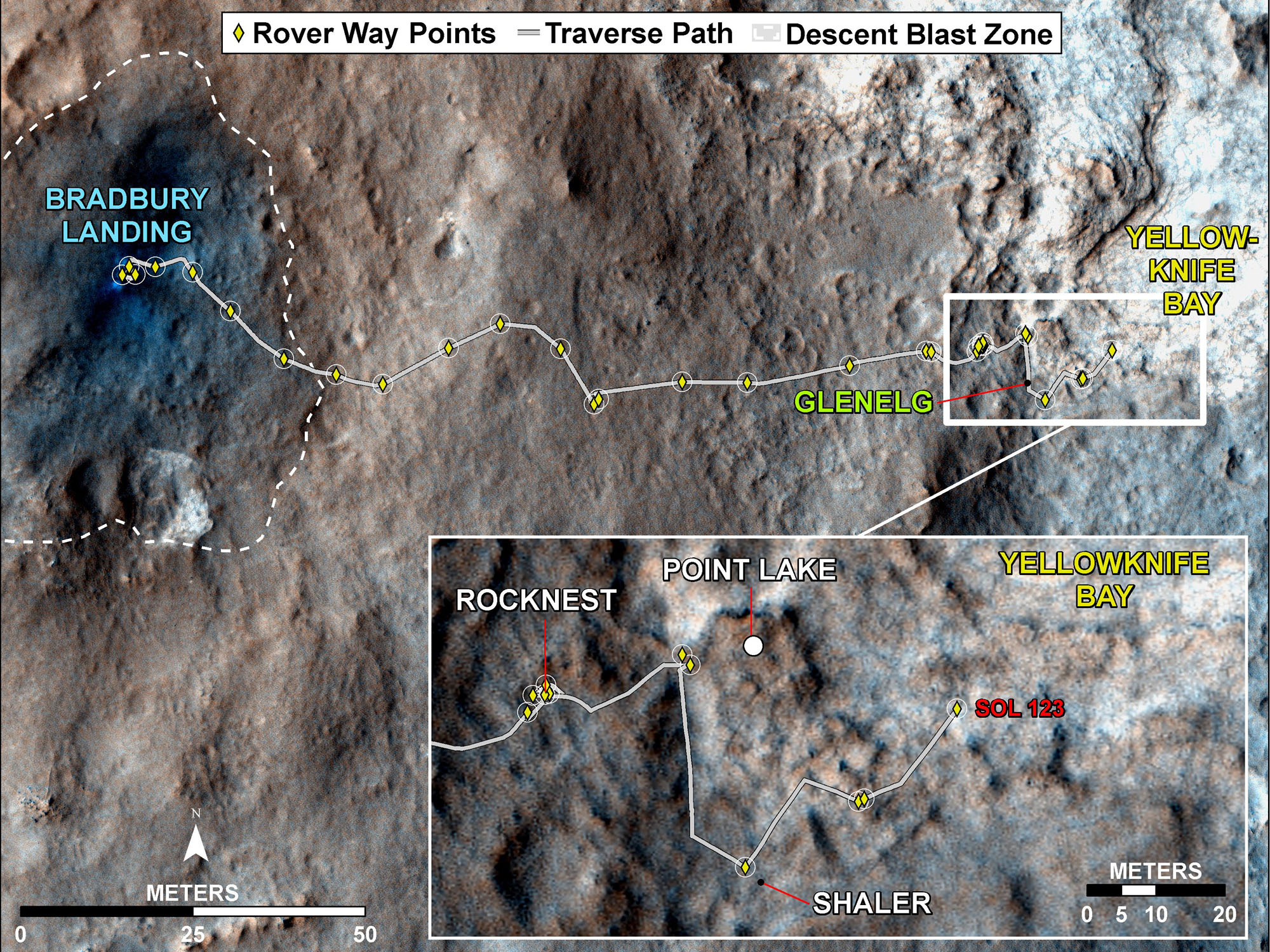 NASA's Curiosity Rover Nearing Yellowknife Bay