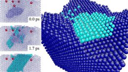 metal atoms formed after bombardment by noble gas ions