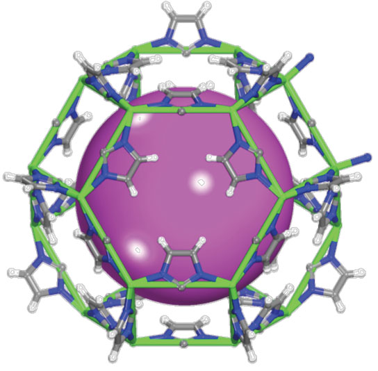 metal-organic framework material to remove radioactive gas from spent nuclear fuel
