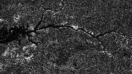 miniature version of the Nile River seen on Saturn's moon Titan