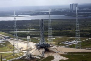 mobile launcher as it stood at Launch Pad 39B