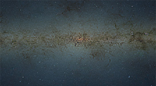 mosaic of the central parts of the Milky Way
