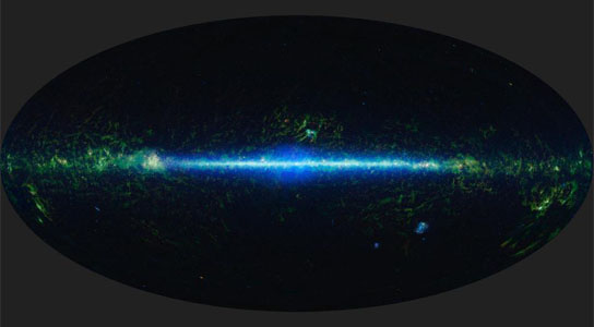 mosaic of the images covering the entire sky as observed by the Wide-field Infrared Survey Explorer