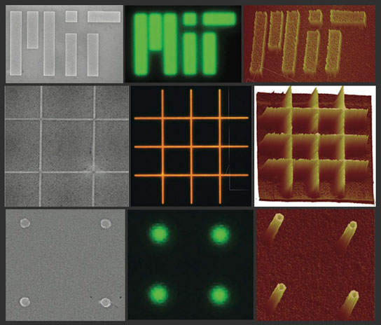 nanopatterned films of nano crystalline material