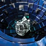 Inside the National Ignition Facility's 10-meter-diameter target chamber. Credit: Lawrence Livermore National Laboratory
