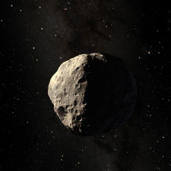 paint pellets could cause an asteroid to veer off course