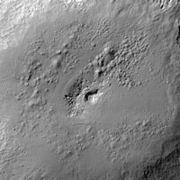 perspective view of Marcia crater on Vesta