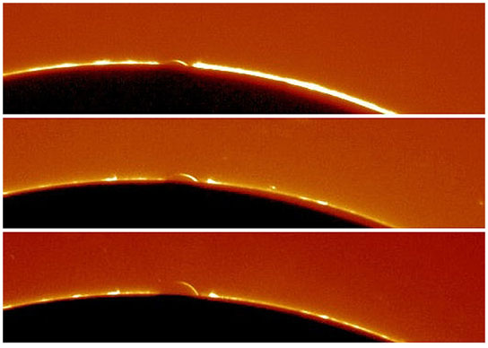 photos from the Arc of Venus observed during the planet's 2004 transit