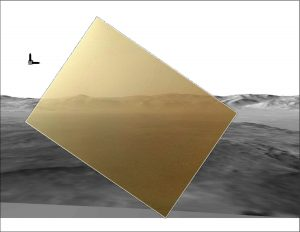 picture of the Martian landing site from NASA's Curiosity rover