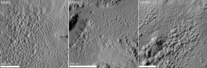 pitted terrain observed by NASA's Dawn mission on Vesta