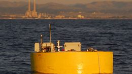 power buoy floats in Monterey Bay