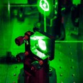 Lasers and mirrors at Quantop laboratories at the Niels Bohr Institute