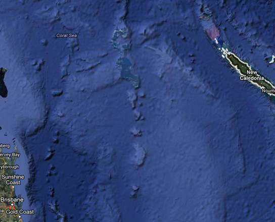 A South Pacific island identified on Google Earth, now blacked out, never existed. Credit: Google Maps