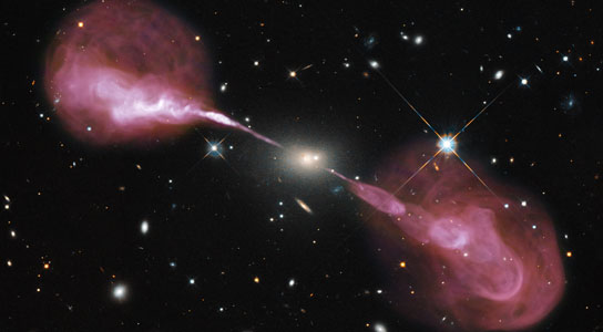 super massive black hole in the core of the elliptical galaxy Hercules A