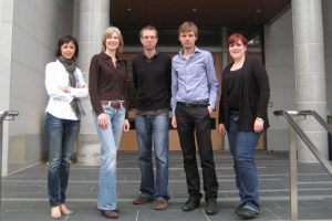 team that discovered a programmable RNA structure for cutting DNA at specific sequences
