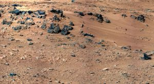 the Rocknest site, selected as the likely location for first use of the scoop on the arm of NASA's Curiosity