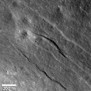 the largest of the newly detected graben found in highlands of the lunar farside